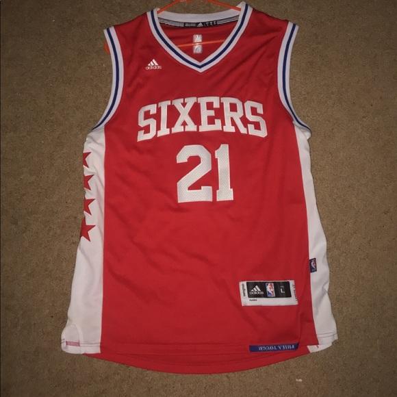 new concept 1c642 05bf5 Adidas Philadelphia 76ers Joel Embiid Jersey
